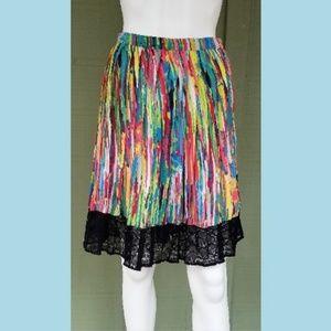 PRABAL GURUNG Target Colorful Lace Trimmed Skirt